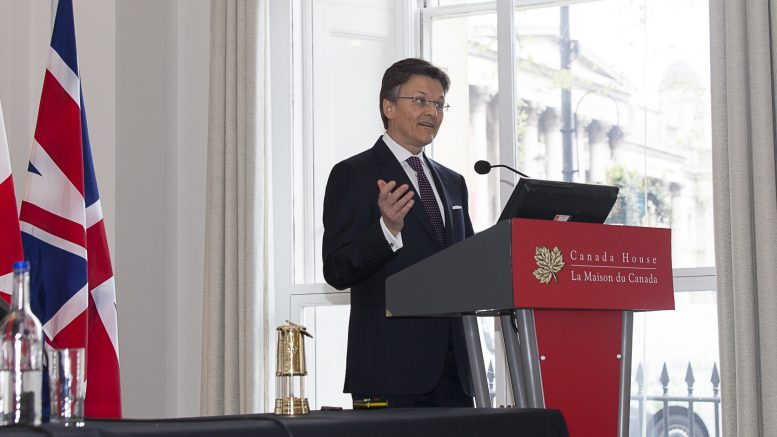 Barrick Gold president Kelvin Dushnisky at the Canadian Mining Symposium at Canada House in London in April 2018. Photo by Martina Lang.