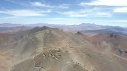 The planned pit areas at Atacama Pacific Gold's Cerro Maricunga gold project in Chile. Credit: Rio2.