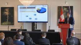 Russell Starr, SVP, Communications at Auryn Resources, presents at the Canadian Mining Symposium in London on April 24, 2018.