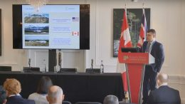 Canarc Resource Corp chief executive officer Catalin Kilofliski presents at the Canadian Mining Symposium in London on April 25, 2018.