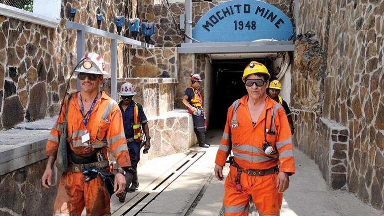 Workers leaving Ascendant Resources' El Mochito zinc-lead-silver mine in Honduras. Credit: Ascendant Resources.