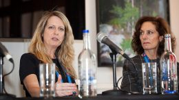 The Responsible Mining panel at the Canadian Mining Symposium in London on April 25, 2018. Left: Sandra Gogal, partner and aboriginal leader, Miller Thomson LLP; and Lisa Davis, chief executive officer, Peartree Securities. Photo by Martina Lang.
