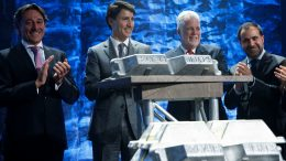 At the launch of Elysis in Montreal in May 2018, from left: Elysis CEO Vincent Christ, Canadian Prime Minister Justin Trudeau, Quebec Premier Philippe Couillard and Rio Tinto Aluminium chief executive Alf Barrios. Credit: PMO.