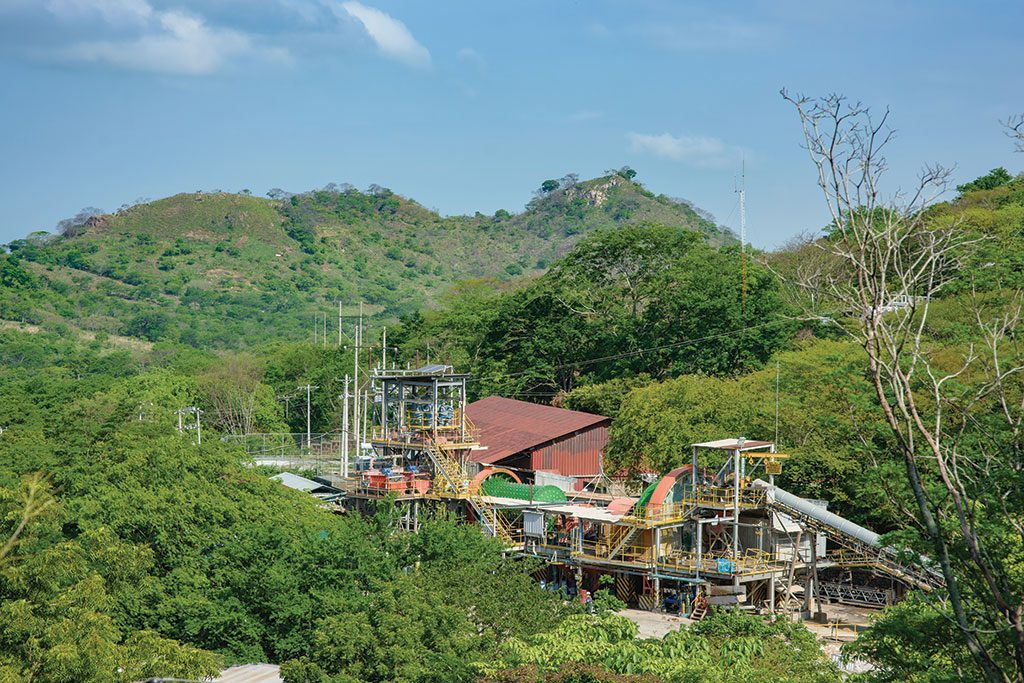 Processing facilities at B2Gold's Limon gold mine in Nicaragua. Credit: B2Gold.