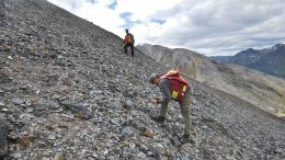 Surveying Fireweed Zinc's Macmillan Pass project. Credit: Fireweed Zinc.