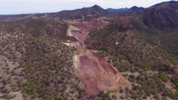 Development at Arizona Mining's Taylor zinc-lead-silver project, 80 km southeast of Tucson, Arizona. Credit: Arizona Mining.