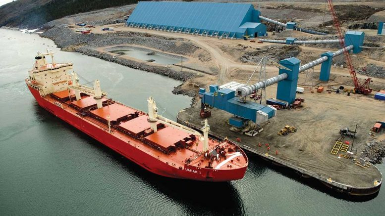 Storage and port facilities at Vale's Voisey's Bay nickel-copper-cobalt mine on the coast of Labrador. Credit: Vale.