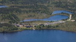 The exploration camp at Eastmain Resources' Eau Claire gold project in Quebec. Credit: Eastmain Resources.