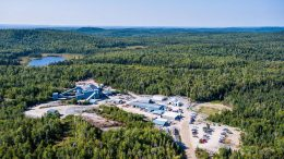An overview of the Island gold mine, near Wawa, Ontario. Credit: Alamos Gold.