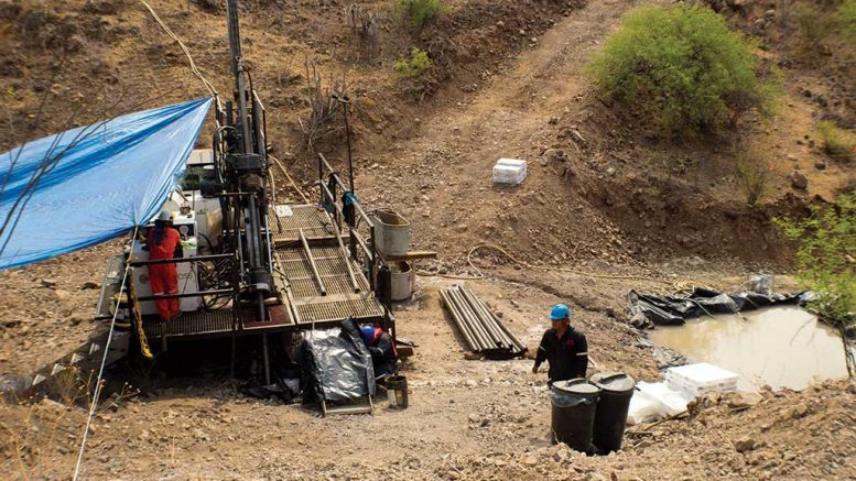 Drillers at SilverCrest Metals' Las Chispas gold-silver property in Sonora, Mexico. Credit: SilverCrest Metals.