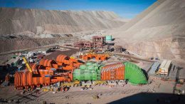 Surface facilities at Codelco's Chuquicamata underground mine, under construction in Chile. Credit: Codelco.