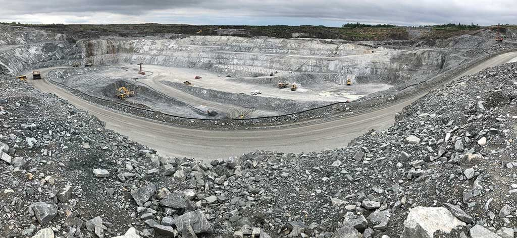 Pit operations at New Gold's Rainy River gold mine northwestern Ontario. Credit: New Gold.