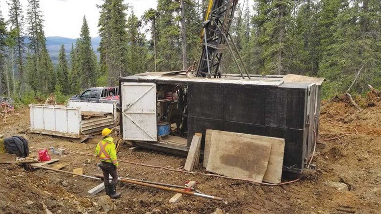 A worker at a drill site on Giga Metals' Turnagain nickel project in north-central British Columbia. Credit: Giga Metals.