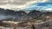 A panorama of Freeport-McMoRan's Grasberg gold-copper mine West Papua, Indonesia. Photo by Richard Jones.