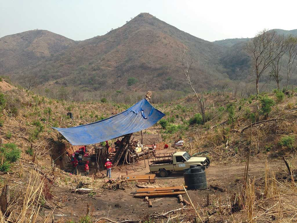 A drill site on the America vein at Condor Gold's La India gold project in Nicaragua. Credit: Condor Gold.