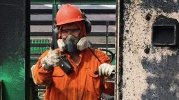 A miner at Largo's Maracas Menchen operation in Brazil. Anglo Pacific Group has a 2% NSR on all products from the project. Photo by The Northern Miner.