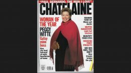 "Margaret Kent (""Peggy Witte"") on the cover of Canada's Chatelaine magazine as their ""Woman of the Year"" for 1995."