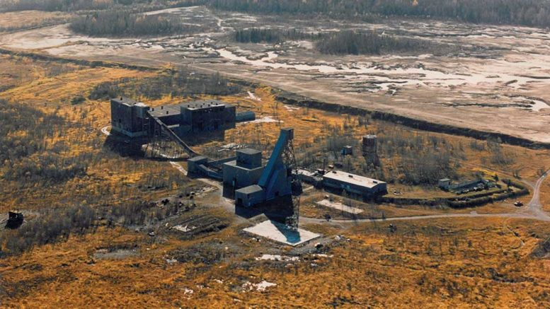 Monarques Gold's past-producing Wasamac gold project in Quebec, as seen in 1984. Credit: Monarques Gold.
