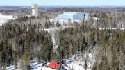 The historic head frame at Pure Gold Mining's Madsen gold property in Red Lake, Ontario. Credit: Pure Gold Mining.