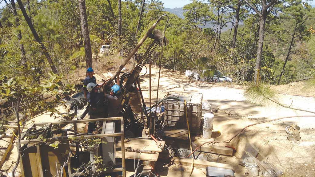 Drillers at Endeavour Silver's Terronera silver project. Credit: Endeavour Silver.