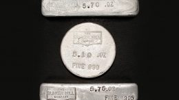 Silver bullion from the Bunker Hill mine. Credit: Bunker Hill Mining.