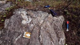 Spodumene-bearing pegmatite outcrops at 92 Resources' Corvette lithium property in Quebec's James Bay region. Credit: 92 Resources.