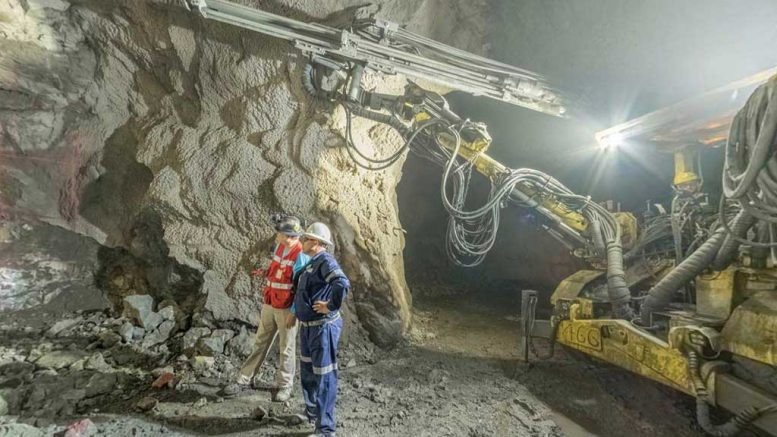 Workers underground at Americas Silver's San Rafael silver-zinc-lead mine in Sinaloa, Mexico. Credit: Americas Silver.