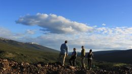 The Metallic Minerals field team at its Keno Hills project in Yukon. Credit: Metallic Minerals.