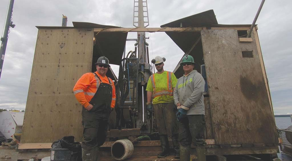Drillers at Fission Uranium's Patterson Lake South uranium project in Saskatchewan. Photo by The Northern Miner.