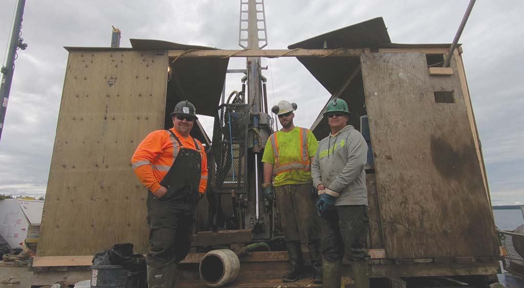 Drillers at Fission Uranium's Patterson Lake South uranium project in Saskatchewan. Photo by Richard Quarisa.