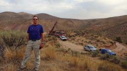 First Vanadium president and CEO Paul Cowley at the Carlin vanadium project in Nevada. Credit: First Vanadium.