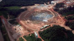Rory's Knoll pit in 2016, shortly after Guyana Goldfield began production at its Aurora gold mine in Guyana. Credit: Guyana Goldfields.