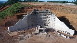 The crusher area under construction at Equinox Gold's Aurizona gold project in northeast Brazil. Credit: Equinox Gold.
