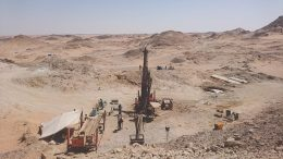 A drill site in 2017 at Orca Gold's Block 14 gold project in the Republic of Sudan. Photo by Richard Quarisa.