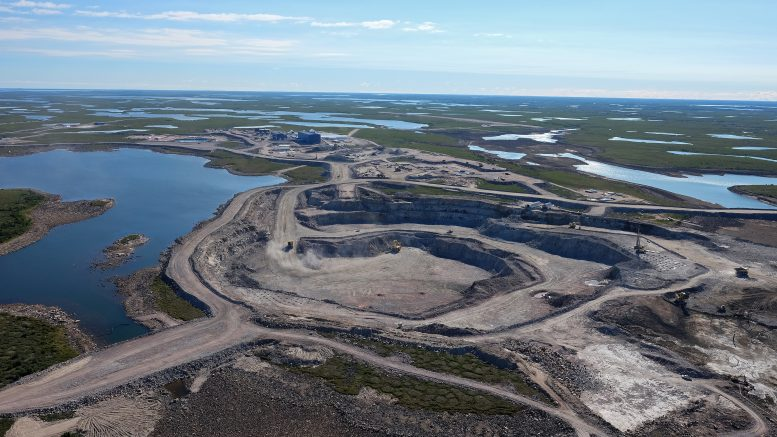 The 5034 pit at De Beers and Mountain Province Diamonds' Gahcho Kue mine in the Northwest Territories. Credit: Mountain Province Diamonds