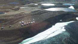 North Arrow Minerals' Mel project camp in Nunavut. Credit: North Arrow Minerals