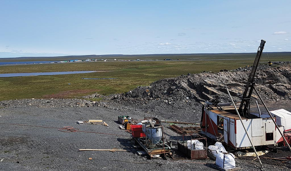 A drill site in mid-2018 at the Nuvuyak zone on Sabina Gold & Silver's Back River gold project in Nunavut. Credit: Sabina Gold & Silver.