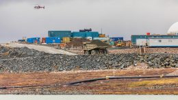 A haul truck at Agnico Eagle Mines' Amaruq gold deposit in Nunavut. Credit: Agnico Eagle Mines.