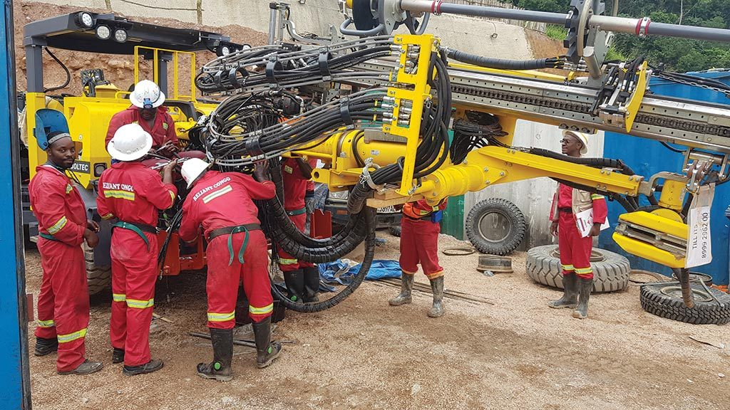 Workers inspect equipment at Alphamin Resources' Bisie tin mine in the Democratic Republic of the Congo. Credit: Alphamin Resources