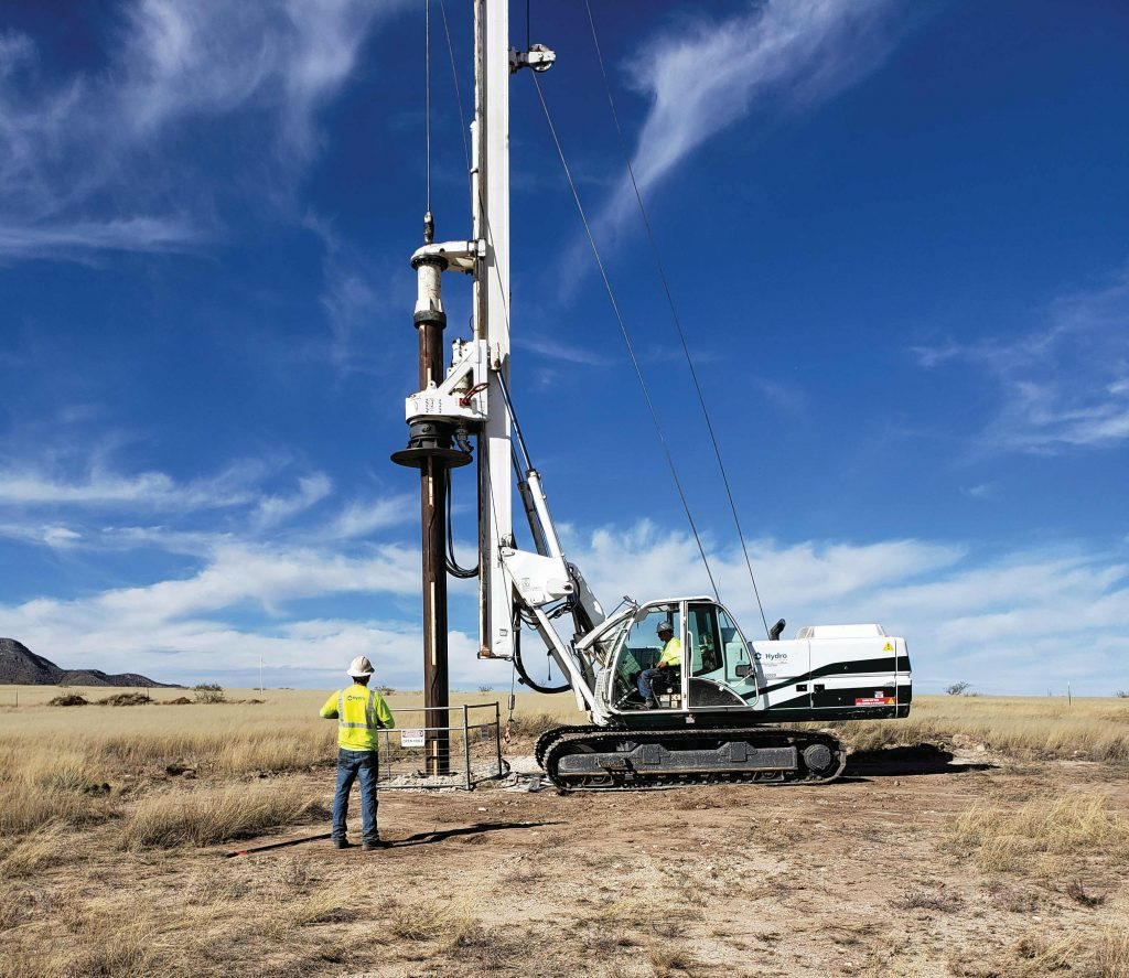 A rig drilling the first well at Excelsior Mining's Gunnison in-situ copper mine in Arizona. Credit: Excelsior Mining.