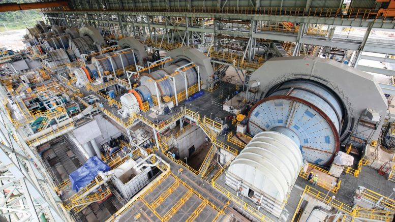 Milling facilities at First Quantum Minerals' Cobre Panama copper mine under construction in Panama. Credit: First Quantum Minerals.
