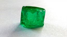 Fura Gems found a 25.97-carat rough emerald (pictured above) at its Coscuez emerald mine in Colombia in May 2018. Credit: Fura Gems.