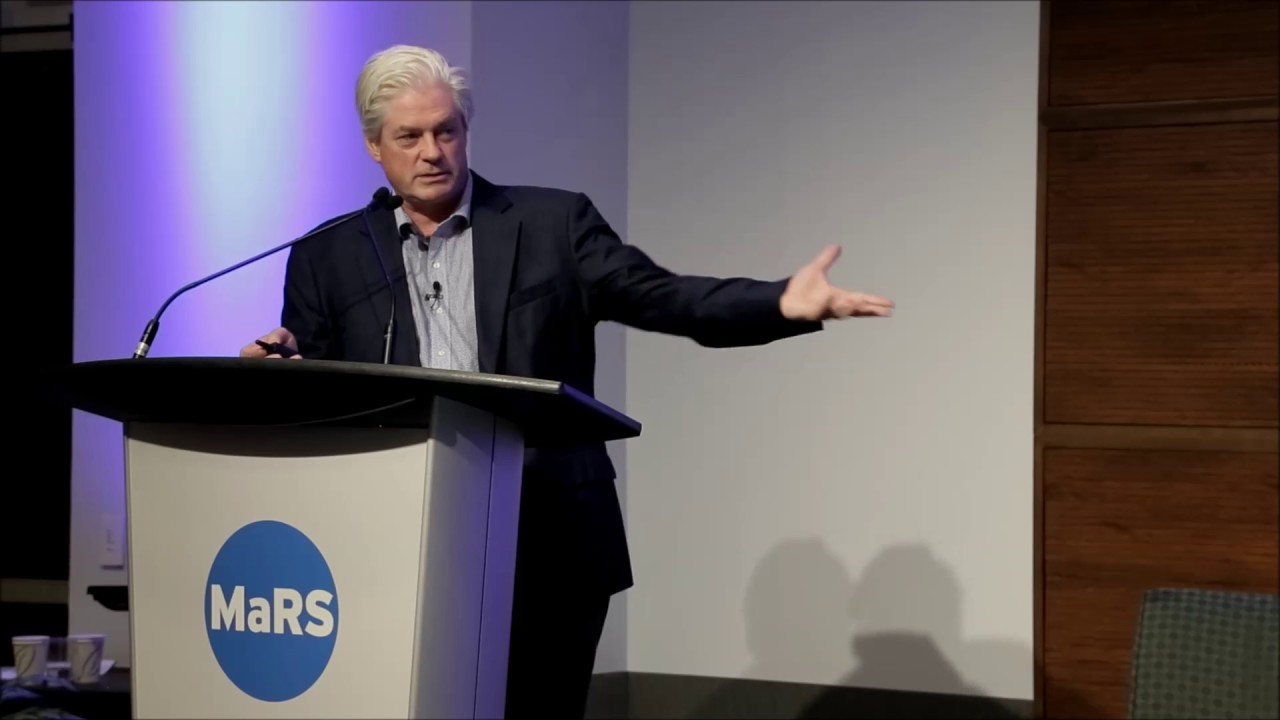 Solar Ship CEO Jay Godsall speaking at The Northern Miner's Progressive Mine Forum at the MaRS Discovery District in Toronto in October 2018. Credit: YouTube screenshot.