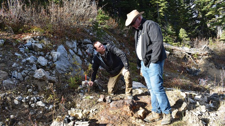 Sun Metals CEO Steve Robertson (left) with technical advisor Peter Megaw at the Stardust polymetallic project in British Columbia. Credit: Sun Metals.