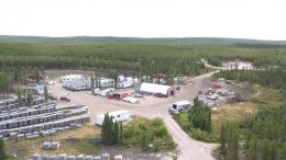 The camp at Denison Mines' Wheeler River uranium project in northern Saskatchewan. Credit: Denison Mines.