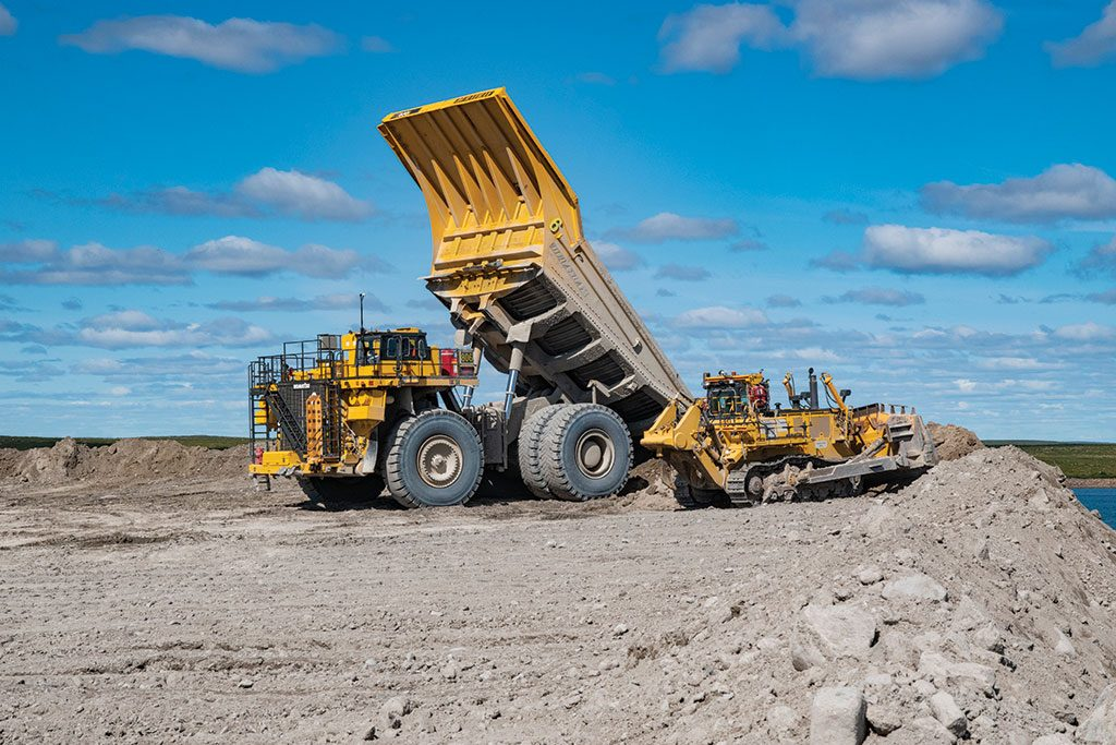 Machines at Mountain Province Diamonds and De Beers' Gahcho Kué diamond mine in the Northwest Territories. Credit: Mountain Province Diamonds.