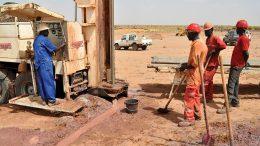 Workers at Global Atomic's Dasa uranium project in Niger. Credit: Global Atomic.