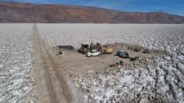 A drill site at Neo Lithium Tres Quebradas (3Q) lithium brine project in Argentina's Catamarca province. Credit: Neo Lithium.