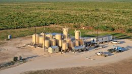 Uranium Energy's Palangana ISR uranium mine, which is on care and maintenance, in south Texas. Credit: Uranium Energy.