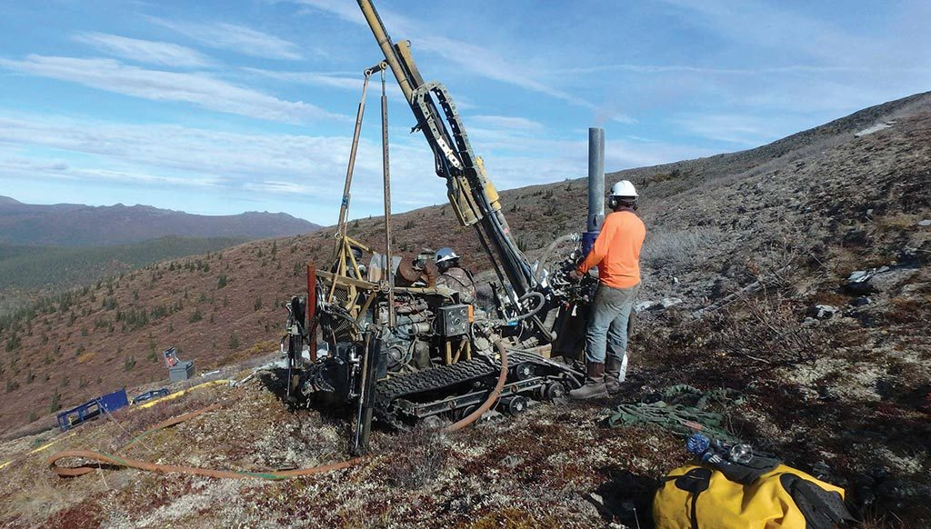 Rotary air-blast drillers at White Gold's Betty gold project in the Yukon. Credit: White Gold.